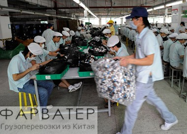 A factory manufactures Mcdonald's Toys in Dongguan, Guangdong, China. 19-Sep-2008